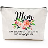 Mom Gifts from Daughter Son Gifts for Mom' Birthday Gifts for Mom Elderly Gifts from Daughter Son for Moms Mothers' Day Makeup Bag Gifts-Mom Don't Have Ugly Children