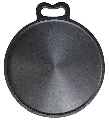 Bharath Agencies Kitchen House Premium Quality Dosa Tawa 12 Inch Pre-Seasoned Cast Iron Skillet