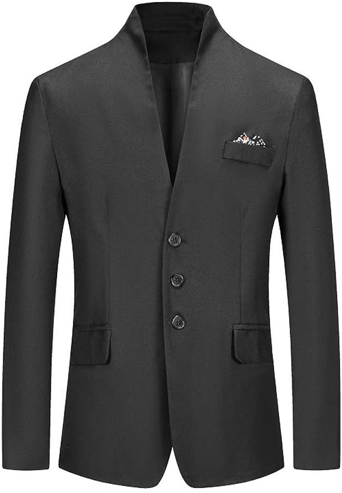 Mens Regular Fit Jacket Blazer Three Buttons Long Sleeve Blazer Tuxedo Casual Jackets