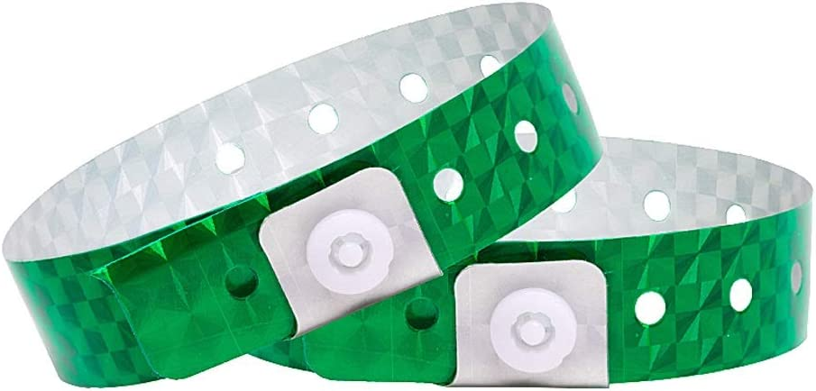 Ouchan Holographic Plastic Party Wristbands - Pack Green Vin Ranking TOP8 500 Los Angeles Mall