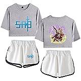 NLJ-lug Sword Art Online Disfraz De Cosplay para Adultos De Anime, Camiseta con Estampado 3D + Conjuntos De Pantalones Cortos, Ropa para Hombres Y Mujeres,XL