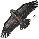 Gran Cometa De águila Negra Para Niños y Adultos - Gran envergadura y diseño realista - Muy fácil de volar - Se ve excelente en el cielo