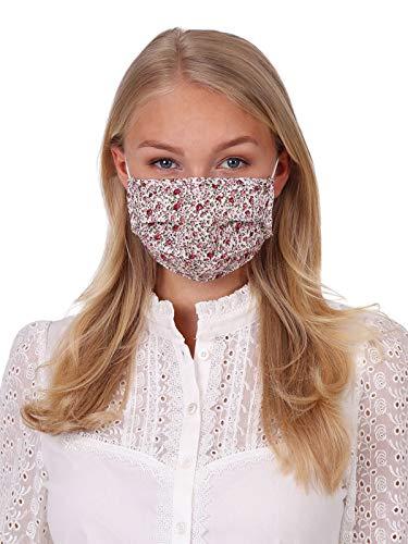 Krüger Waschbare Mund-Nasen-Maske Behelfsmaske aus 100% Baumwolle als ideale Stoff-Mundbedeckung, Art.-Nr. 001210-0-0233, OneSize, rosa