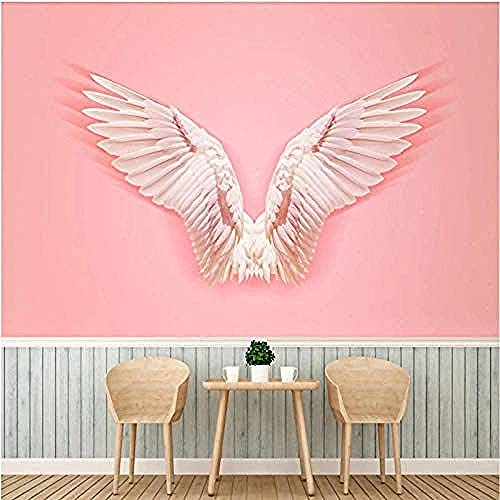 Behang 3D roze engelenvleugel behang 3D winkel achtergrond afbeelding Home Decoration vliesbehang 450X300厘米