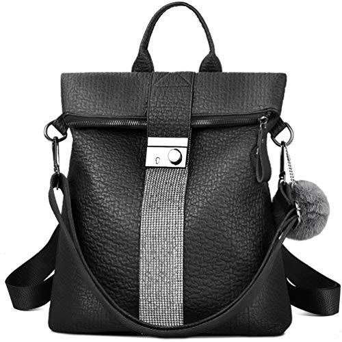 VBIGER Damen Rucksack Elegant Leder PU Anti-Diebstahl Tagesrucksack Schultaschen Reiserucksack für Frauen