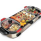 BBQ Hot Pot elektrischer Hot Pot Grill Multifunktions-Abnehmbarer Topf mit unabhängiger...