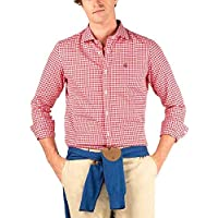 El Ganso 1050s200062 Camisa Casual, Rojo (Rojo 0062), Small (Tamaño del Fabricante:S) para Hombre