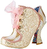 Irregular Choice Baroness, Zapatos de Boda para Mujer, Blanco (White Black), 42 EU