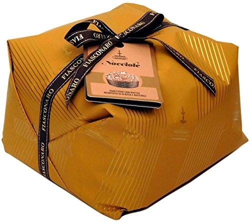Fiasconaro Traditional Italian Nocciole Hazelnut Panettone Holiday Bread Cake, 2.2 Pound (1000 Gram) Hand Wrapped, Imported From Italy