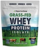 Grass Fed Whey Protein Powder Isolate - Unflavored - Low Carb Keto & Paleo Diet Friendly - Pure Grass-Fed Protein for Shakes, Smoothies, Drinks & Recipes - Non GMO & Gluten Free - 2.5 Pounds
