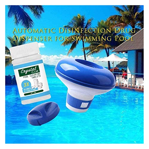 NA Pool Cleaner Tablet & Floating Pool Dispenser, Deep Cleaning Remover for Indoor and Outdoor Pools - Pool Cleaner Tablet & Schwimmender Pool- und Spa-Spender (Tablets+Dispenser)