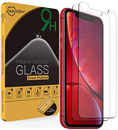 Jasinber 2-Pack Mica de Vidrio Cristal Templado para iPhone 11 / XR (6.1 Pulgadas)