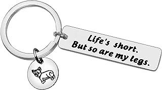 Funny Corgi Keychain Cute Keychain Corgi Lovers Gifts Corgi Charm Gifts for Corgi Lover Dogs Lover Gifts Inspirational Key...