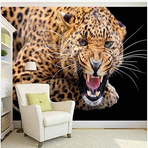 Fveng 3D Door sticker Anpassung Stereo Animal Tiger Wallpaper Wohnzimmer Schlafzimmer-350cmx256cm
