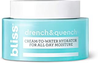 Bliss Drench and Quench Cream-To-Water Daily Moisturizer and Hydrating Skin Cream for Balancing and Brightening, Vegan Formula, 1.7 Ounce