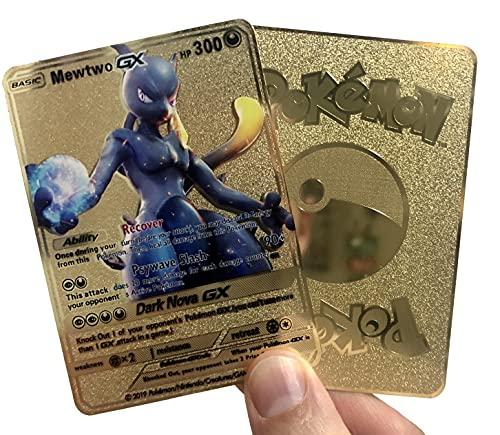 Mewtwo GX - Gold Metal Custom Pokem…