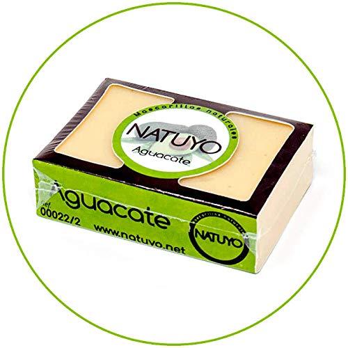 - Mascarilla de jabón NATUYO hidratante de AGUACATE.- Mejora la elasticidad de la piel, propiedades regenerantes y útil en la prevención de varices.