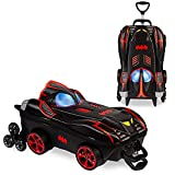 MaxToy Batmobile Kids Luggage with 6 Chrome Wheels and 3D design built for kid friendly rolling