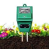 Soil Moisture Meter,3-in-1 Soil Test Kit Gardening,Soil PH Meter,Soil Tester for Moisture/Light/pH,Digital Indoor/Outdoor Soil Testing Probe Sensor Analyzer Detector Reader for Lawns,Farm,Plants,Herbs