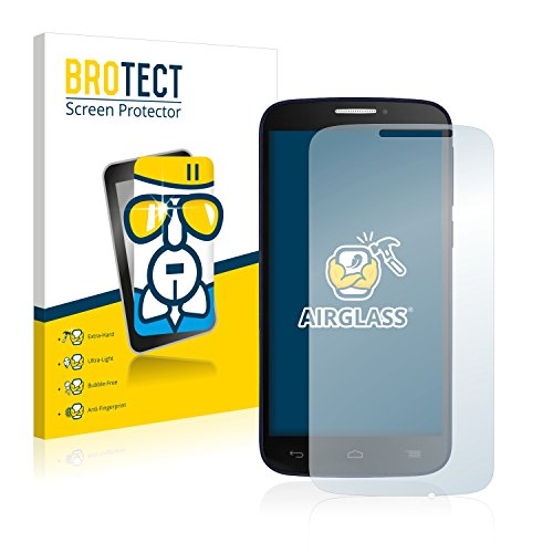 BROTECT Panzerglas Schutzfolie kompatibel mit Alcatel One Touch Pop C7 7041D - AirGlass, 9H Härte, Anti-Fingerprint, HD-Clear