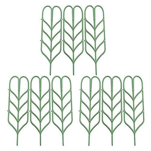 RTWAY Garten-Spalier/Mini-Rankgitter für Heimwerker Garten Blumentopf-Unterstützung, 10,2 cm B x 35,6 cm H, 9 Stück