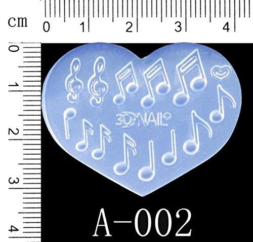 QTQHOME SNASAN - Molde de silicona con diseño de flores de dibujos animados con forma de corazón y estrella