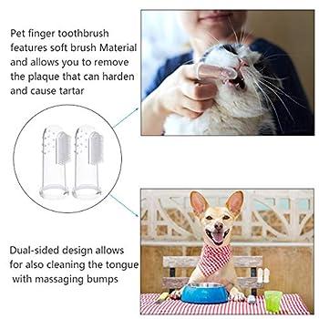 AirSMall 12 PCS Brosses à dents pour chiens,Brosse à Dents de Doigt ,En silicone souple avec 2 brosses à dents à double tête nettoyer hygiène,élimine débris alimentaires pour animal chiens et chat