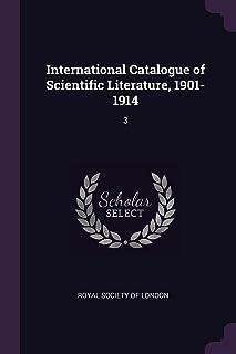 International Catalogue of Scientific Literature, 1901-1914: 3