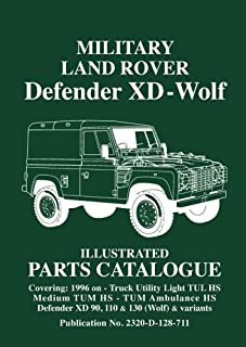 Military Land Rover Defender XD - Wolf Illustrated Parts Cat