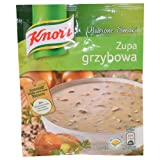 Taste from Nature. Contains no Preservatives. Product of Poland. Mushroom Soup. Store in a cool and dry place.