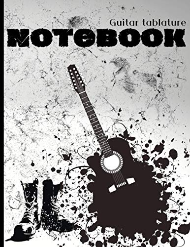 Guitar Tablature Notebook: MUSIC PAPER Blank Chord Diagrams Seven 6-Line Staves