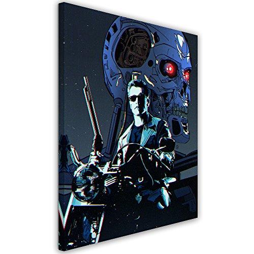 Feeby. Cuadro en Lienzo - 1 Parte - 40x50 cm, Imagen impresión Pintura decoración Cuadros de una Pieza,Terminator 1 - Nikita Abakumov, PELÍCULA, Azul