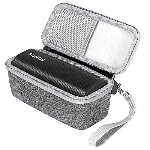 Seracle Eva Hart Fall Reise Schutz Tasche Hülle Etui Hülle für Sonos Roam WLAN und Bluetooth Speaker (Grau)