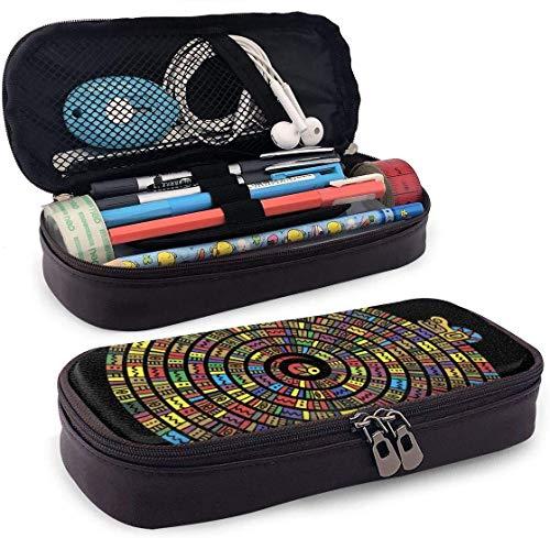 Animali Aztechi Serpente Maya Antico messicano Pelle Nanotecnologia 3D Astuccio per matite stampato Astuccio per penna con cerniera Forniture per la scuola per studenti