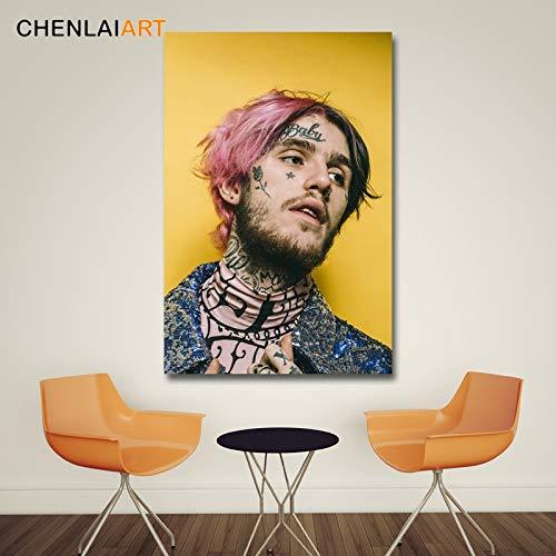 Flduod Lil Peep muziek Raper Canvas schilderij kunst moderne decoratieve muur foto's voor woonkamer posters en prints50x75cm
