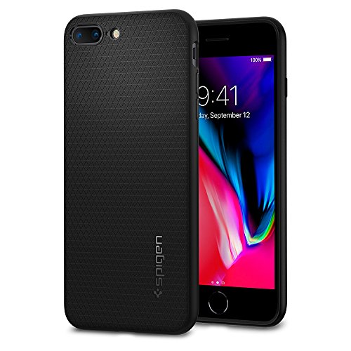 Spigen Liquid Air Armor Designed for Apple iPhone 8 Plus Case (2017) / Designed for iPhone 7 Plus Case (2016) - Black