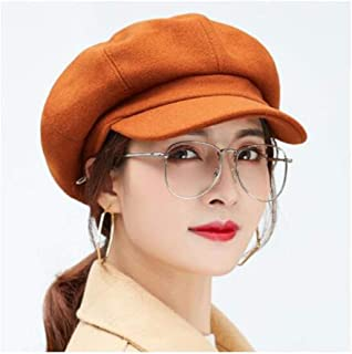 WYMAI Hat Autumn and Winter Fashion Wild Female Students in Autumn and Winter Octagonal Cap Beret Variety of Styles Simple and Practical Product (Color : Brown)