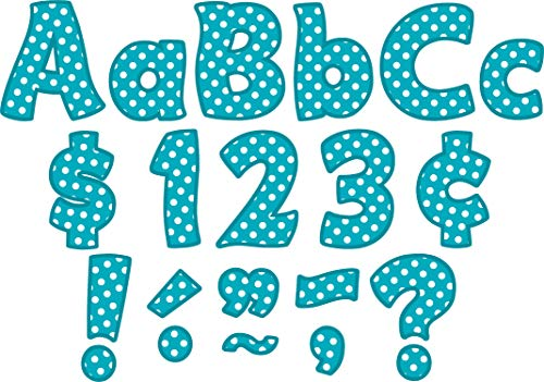 Teacher Created Resources Teal Polka Dot Funtastic 4-Inch Letters Combo Pack (5429)