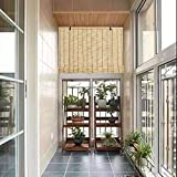 YANYAN Natural Cortina De Paja Persiana Enrollable De Bambú Retro Persianas De Caña Naturales Tejidas A Mano Persiana De Mader 90x200cm Medidas De Estores De Bambú Decoración De Habitación