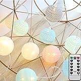 LED Cotton Ball Lichterkette...