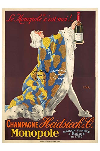 Herbé TM Champagner Monopol Rf849-Poster/Kunstdruck, 40 x 60 cm * d1, Vintage/Antik/Retro
