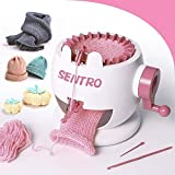 Machine à tricoter, métier à tricoter rond intelligent à 22 aiguilles, machine à tisser à double tricot rotative pour adultes ou enfants