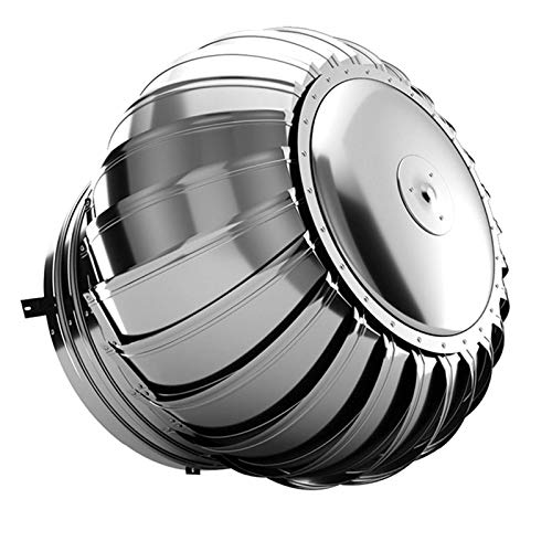 Jonist Casquillo Giratorio de Acero Inoxidable para Chimenea, antivaho, 100-200 mm para Plantas industriales, talleres, residencias, etc, 100 mm