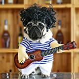Idepet Pet Halloween Costume Funny Guitar Dog Costume Dressing Up Pet Clothes Suit for Puppy Small Medium Dogs Chihuahua Teddy Pug Christmas Party Halloween Costumes Outfit (Size XL)
