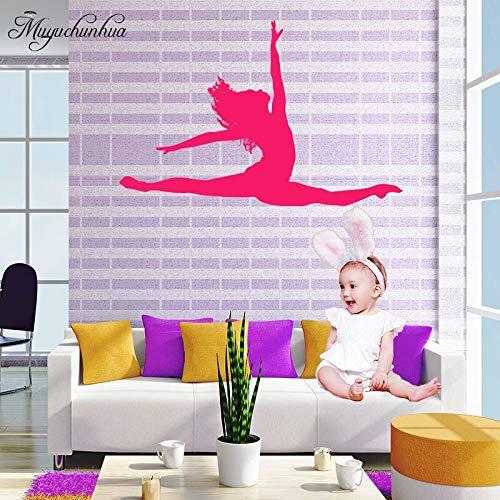 SUPWALS The Splits Dance Girl Wall Sticker for Living Room Bedroom Home Decor Dancer Art Decals Vinyl Wall Paper Stickers