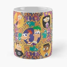 Phineas And Ferb Mandala Classic Mug - The Funny Coffee Mugs For Halloween, Holiday, Christmas Party Decoration 11 Ounce White-buysinopec.