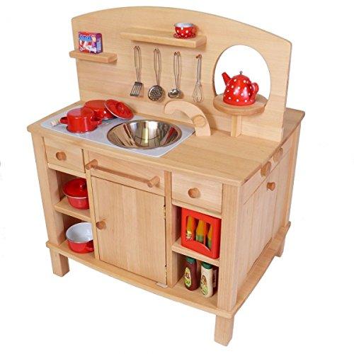 Kinder-Spielküche Cinderella 2050-4-seitig bespielbar - mit 4 Feststellrollen - 3