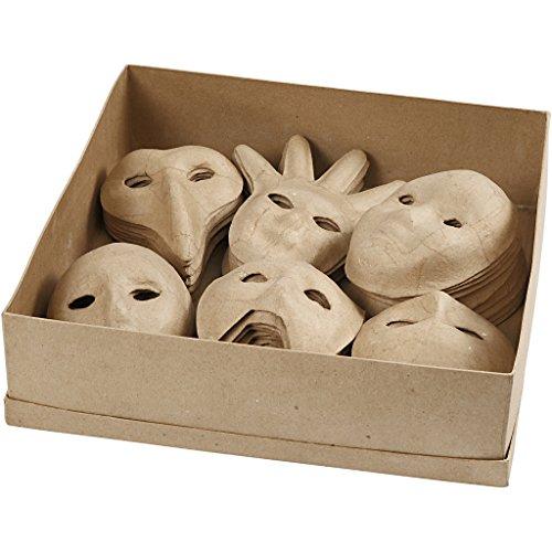 Creativ Papier Mache Venetiaanse gezichtsmasker Assortiment 60 Verschillende bulk kopen 6 ontwerpen