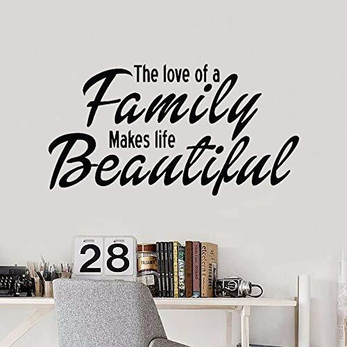 Calcomanías de vinilo en la pared, cocina, baño, texto, el amor familiar, hace que la vida sea hermosa, sala de estar, decoración del hogar