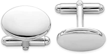 925 Sterling Silver Oval Cuff Links Mens Cufflinks Man Link Fine Jewelry Gift For Dad Mens For Him